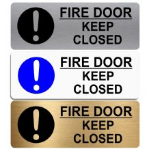 Fire Door Keep Closed-WITH IMAGE-Aluminium Metal Sign-Door,Notice,Shop,Office,Secure